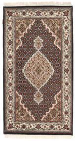 Tabriz Royal Matto 93X162 Itämainen Käsinsolmittu Vaaleanruskea/Vaaleanharmaa ( Intia)