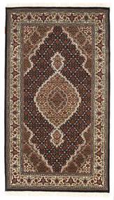Tabriz Royal Matto 94X164 Itämainen Käsinsolmittu Tummanruskea/Tummanpunainen ( Intia)