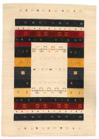 Loribaf Loom Matto 168X236 Moderni Käsinsolmittu Beige/Musta (Villa, Intia)
