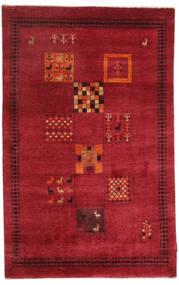 Gabbeh Loribaft Matto 120X190 Moderni Käsinsolmittu Punainen/Tummanpunainen (Villa, Intia)