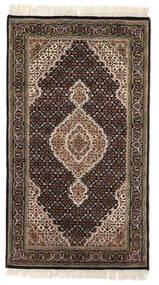 Tabriz Royal Matto 93X163 Itämainen Käsinsolmittu Tummanruskea/Vaaleanharmaa ( Intia)