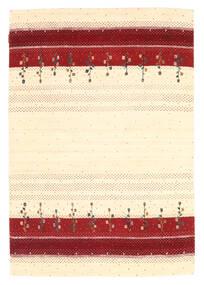 Loribaf Loom Matto 126X183 Moderni Käsinsolmittu Beige/Tummanpunainen (Villa, Intia)