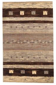 Gabbeh Loribaft Matto 155X246 Moderni Käsinsolmittu Tummanpunainen/Vaaleanharmaa (Villa, Intia)