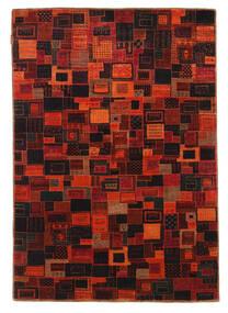 Gabbeh Loribaft Matto 134X195 Moderni Käsinsolmittu Tummanpunainen/Tummanruskea (Villa, Intia)
