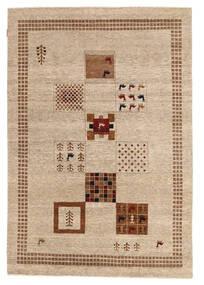 Gabbeh Loribaft Matto 151X220 Moderni Käsinsolmittu Beige/Vaaleanruskea (Villa, Intia)