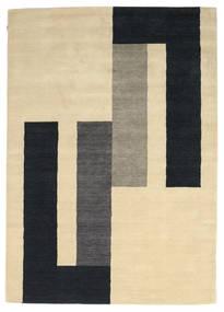 Loribaf Loom Matto 170X241 Moderni Käsinsolmittu Keltainen/Musta (Villa, Intia)