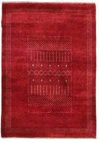 Gabbeh Loribaft Matto 90X127 Moderni Käsinsolmittu Punainen/Tummanpunainen (Villa, Intia)