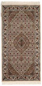 Tabriz Royal Matto 72X140 Itämainen Käsinsolmittu Vaaleanharmaa/Tummanruskea ( Intia)