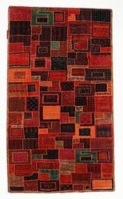 Gabbeh Loribaft Matto 75X131 Moderni Käsinsolmittu Tummanpunainen/Ruoste (Villa, Intia)