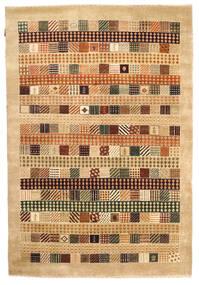 Gabbeh Loribaft Matto 150X222 Moderni Käsinsolmittu Keltainen/Beige (Villa, Intia)