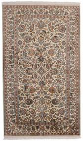 Kashmir 100% Silkki Matto 95X159 Itämainen Käsinsolmittu Vaaleanharmaa/Ruskea (Silkki, Intia)