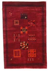Gabbeh Loribaft Matto 115X175 Moderni Käsinsolmittu Tummanpunainen/Punainen (Villa, Intia)