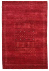 Gabbeh Loribaft Matto 150X226 Moderni Käsinsolmittu Punainen (Villa, Intia)