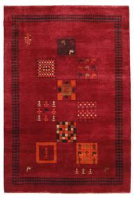 Gabbeh Loribaft Matto 145X215 Moderni Käsinsolmittu Punainen/Tummanpunainen (Villa, Intia)