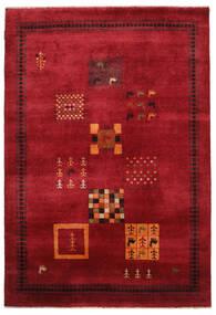 Gabbeh Loribaft Matto 155X225 Moderni Käsinsolmittu Tummanpunainen/Musta (Villa, Intia)
