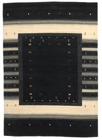 Loribaf Loom Matto 169X243 Moderni Käsinsolmittu Musta/Beige (Villa, Intia)