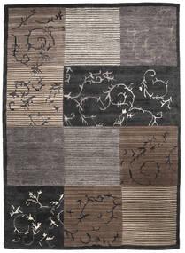 Loribaf Loom Matto 171X239 Moderni Käsinsolmittu Tummanruskea/Vaaleanharmaa/Tummanharmaa (Villa, Intia)