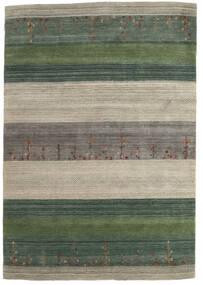 Loribaf Loom Matto 168X243 Moderni Käsinsolmittu Vaaleanharmaa/Tummanvihreä (Villa, Intia)