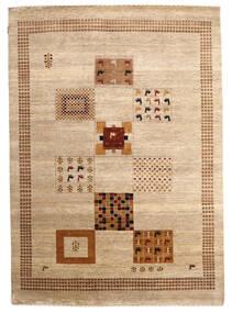 Gabbeh Loribaft Matto 195X275 Moderni Käsinsolmittu Beige/Tummanbeige (Villa, Intia)