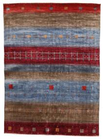Gabbeh Loribaft Matto 162X221 Moderni Käsinsolmittu Tummanruskea/Tummanpunainen/Tummanharmaa (Villa, Intia)
