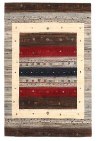 Gabbeh Loribaft Matto 118X182 Moderni Käsinsolmittu Tummanruskea/Musta (Villa, Intia)