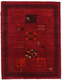 Gabbeh Loribaft Matto 93X121 Moderni Käsinsolmittu Tummanpunainen/Tummanruskea (Villa, Intia)
