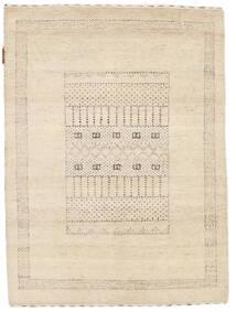 Gabbeh Loribaft Matto 90X121 Moderni Käsinsolmittu Tummanbeige/Vaaleanruskea (Villa, Intia)