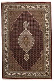 Tabriz Royal Matto 198X304 Itämainen Käsinsolmittu Tummanpunainen/Ruskea ( Intia)