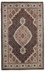 Tabriz Royal Matto 95X156 Itämainen Käsinsolmittu Tummanruskea/Vaaleanharmaa ( Intia)