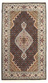 Tabriz Royal Matto 71X139 Itämainen Käsinsolmittu Tummanruskea/Vaaleanharmaa ( Intia)