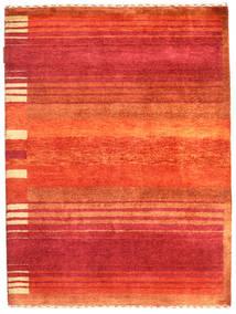 Gabbeh Loribaft Matto 91X121 Moderni Käsinsolmittu Ruoste/Punainen (Villa, Intia)