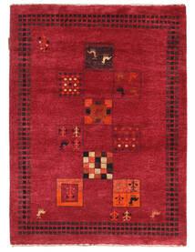 Gabbeh Loribaft Matto 91X125 Moderni Käsinsolmittu Punainen/Tummanpunainen (Villa, Intia)
