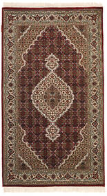 Tabriz Royal Matto 93X164 Itämainen Käsinsolmittu Tummanpunainen/Vaaleanruskea ( Intia)