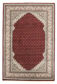 Mir Indo Matto 124X185 Itämainen Käsinsolmittu Tummanpunainen/Vaaleanharmaa (Villa, Intia)
