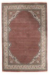 Mir Indo Matto 121X181 Itämainen Käsinsolmittu Tummanpunainen/Vaaleanharmaa (Villa, Intia)