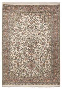 Kashmir 100% Silkki Matto 130X183 Itämainen Käsinsolmittu Tummanruskea (Silkki, Intia)