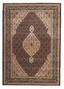 Tabriz Royal Matto 145X203 Itämainen Käsinsolmittu Tummanruskea/Tummanpunainen ( Intia)