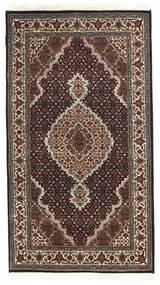 Tabriz Royal Matto 91X163 Itämainen Käsinsolmittu Tummanruskea/Musta ( Intia)