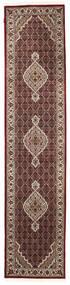 Tabriz Royal Matto 81X363 Itämainen Käsinsolmittu Käytävämatto Tummanpunainen/Valkoinen/Creme ( Intia)