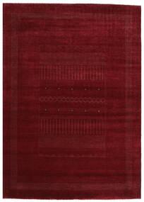 Gabbeh Loribaft Matto 201X281 Moderni Käsinsolmittu Tummanpunainen (Villa, Intia)