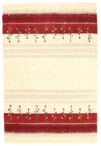 Loribaf Loom Matto 123X183 Moderni Käsinsolmittu Beige/Tummanpunainen (Villa, Intia)