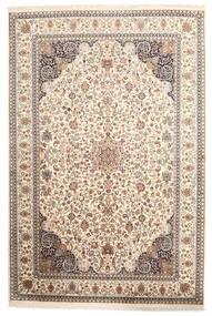 Kashmir 100% Silkki Matto 170X255 Itämainen Käsinsolmittu Vaaleanharmaa/Beige (Silkki, Intia)