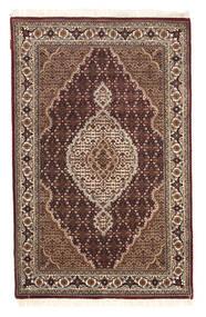 Tabriz Royal Matto 117X183 Itämainen Käsinsolmittu Tummanpunainen/Ruskea ( Intia)