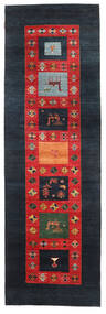 Gabbeh Loribaft Matto 95X301 Moderni Käsinsolmittu Käytävämatto Tummansininen/Ruoste (Villa, Intia)