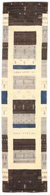 Loribaf Loom Matto 80X243 Moderni Käsinsolmittu Käytävämatto Tummanruskea/Beige/Vaaleanharmaa (Villa, Intia)