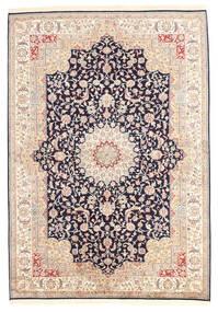 Kashmir 100% Silkki Matto 173X247 Itämainen Käsinsolmittu Keltainen/Tummanharmaa (Silkki, Intia)