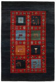 Gabbeh Loribaft Matto 149X225 Moderni Käsinsolmittu Musta/Ruoste (Villa, Intia)