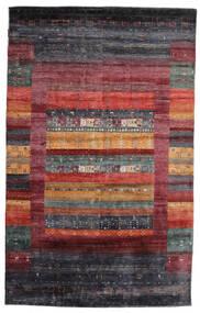 Gabbeh Loribaft Matto 145X233 Moderni Käsinsolmittu Tummanpunainen/Tummanruskea/Musta (Villa, Intia)