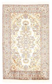 Kashmir 100% Silkki Matto 79X127 Itämainen Käsinsolmittu Valkoinen/Creme/Vaaleanharmaa/Beige (Silkki, Intia)