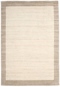 Handloom Frame - Natural/Sand Matto 200X300 Moderni Beige/Vaaleanharmaa (Villa, Intia)